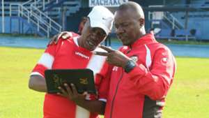 David Ouma and Richard Kanyi of Harambee Starlets.