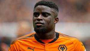 Alfred N'Diaye Wolverhampton Wanderers during the Championship match with Birmingham City at Molineux on April 15, 2018 i