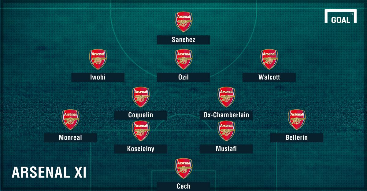 GFX Info Arsenal XI vs Chelsea 04022017