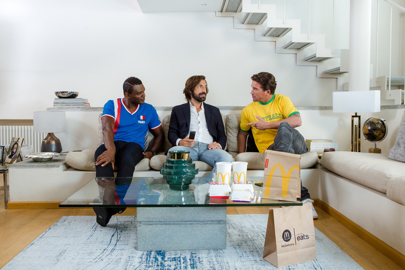 Andrea Pirlo Marcel Desailly Harry Kewell Uber Eats