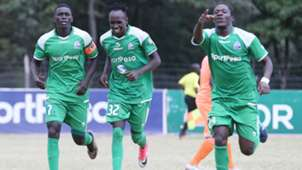 Innocent Wafula of Gor Mahia celebrates v Sofapaka.