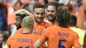 Netherlands celebrate v Bulgaria 03092017