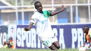 Cliff Nyakeya celebrates scoring for Mathare United.