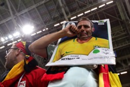 Brazil fan crying Brazil Belgium