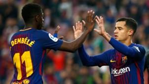 Ousmane Dembele Philippe Coutinho Barcelona 2017-18