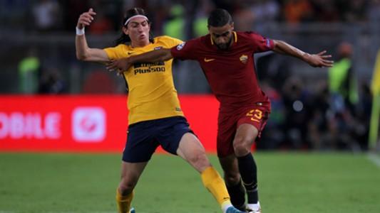 Gregoire Defrel Filipe Luis Roma Atletico Madrid UEFA Champions League 09122017