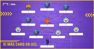 XI más caro Champions 17-18