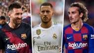 Lionel Messi Eden Hazard Antoine Griezmann Split
