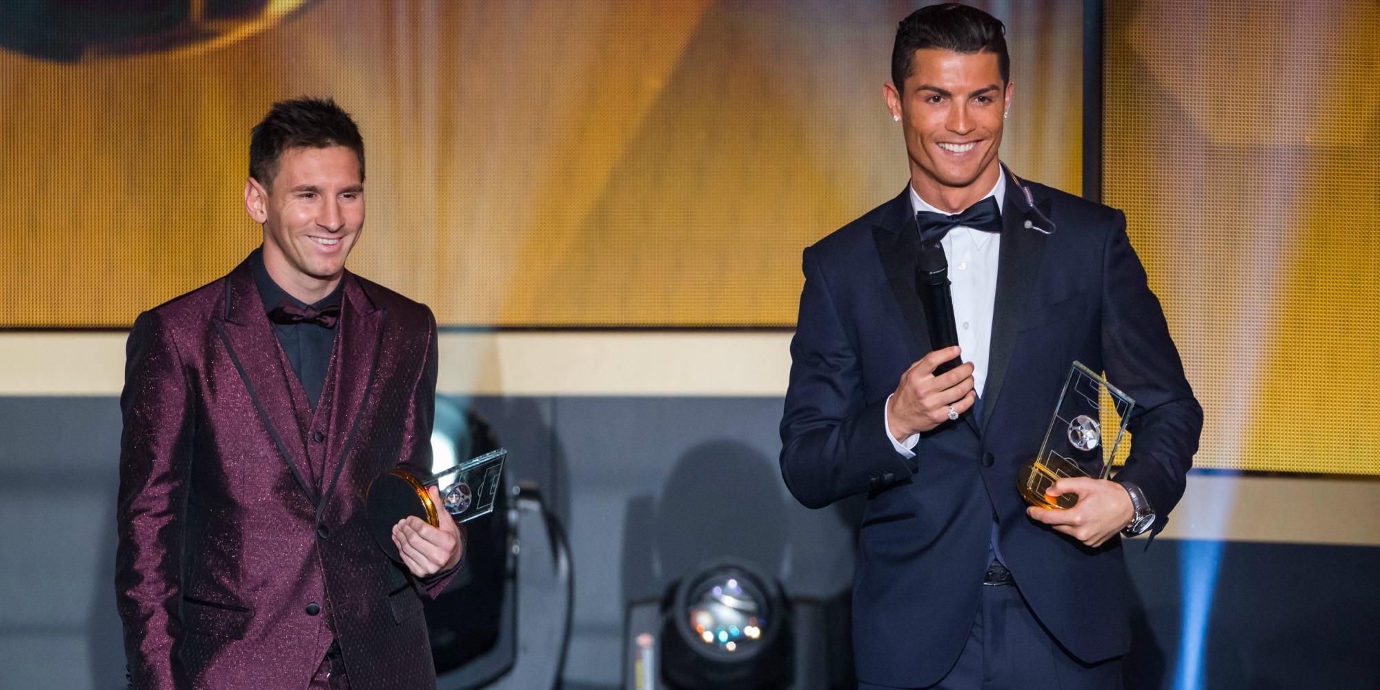 Messi Cristiano Ronaldo Golden Ball