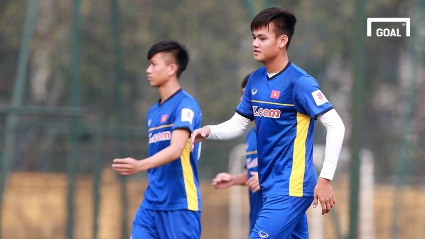 Đội tuyển Việt Nam tập luyện chuẩn bị vòng loại Asian Cup 2019 ngày 23/3