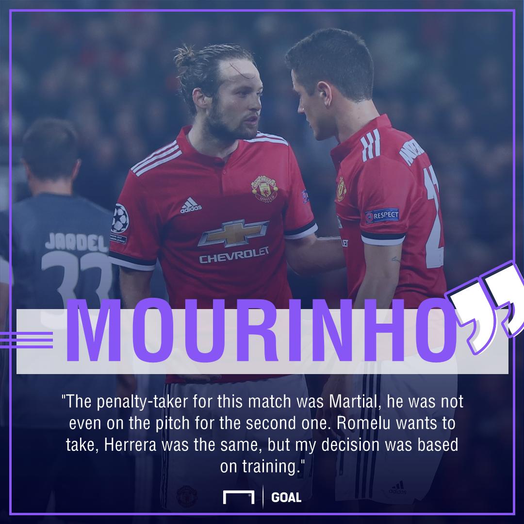 Jose Mourinho Manchester United penalties