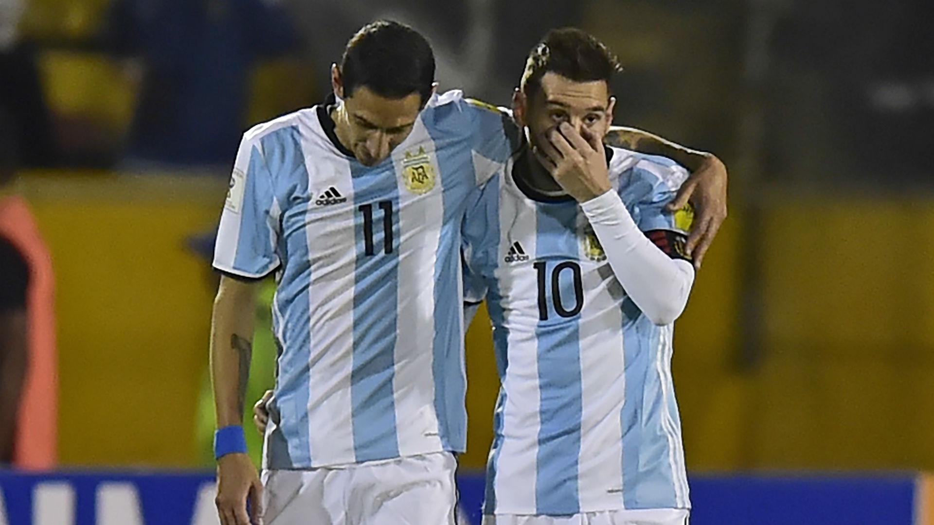 Di María y Messi. Ecuador Argentina 2017