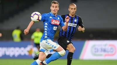 Milik MIranda Napoli Inter