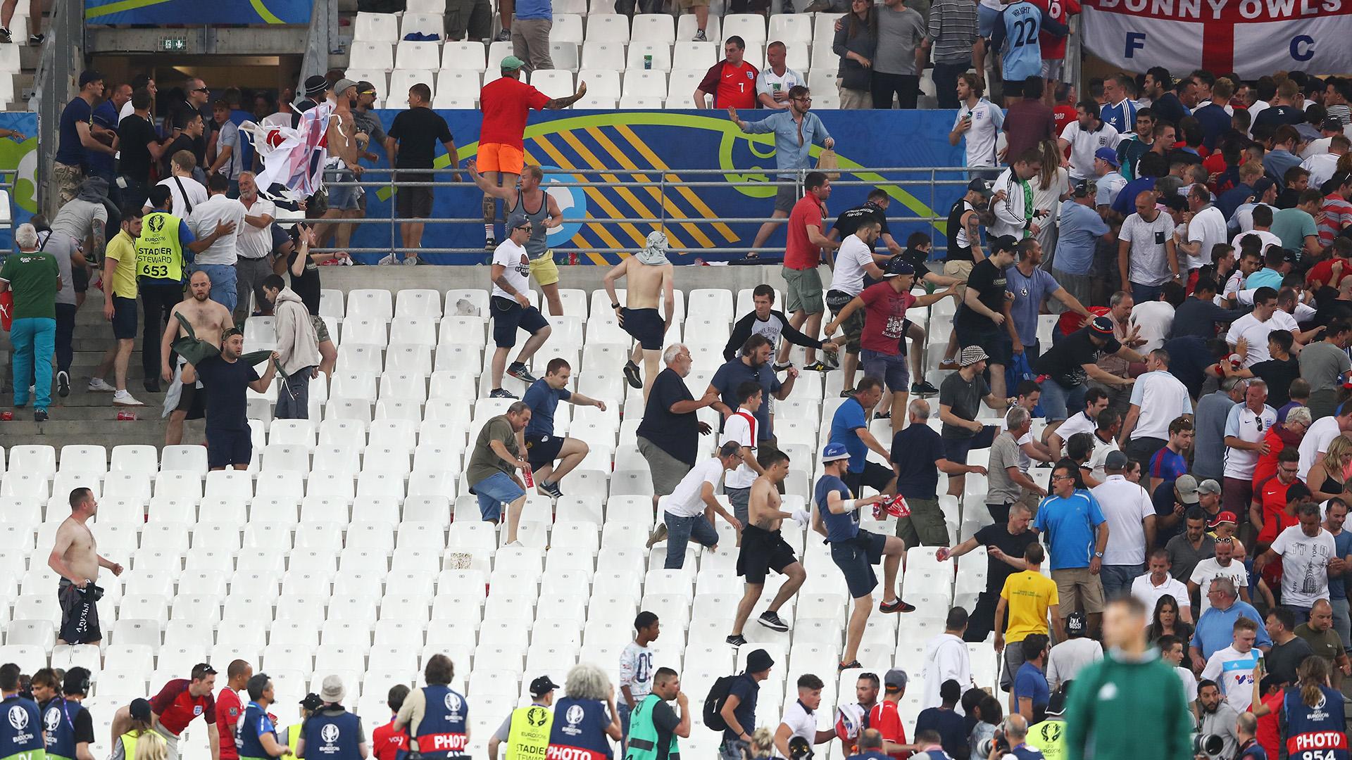 England v Russia fans Euro 2016 European Championships France
