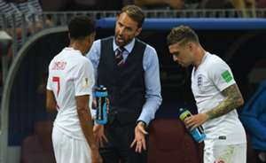 Gareth Southgate Jesse Lingard Kieran Trippier England Croatia 11072018