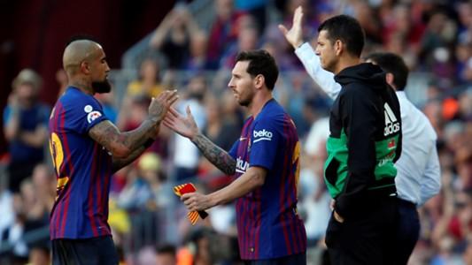 Lionel Messi Arturo Vidal Barcelona Athletic LaLiga 29092018