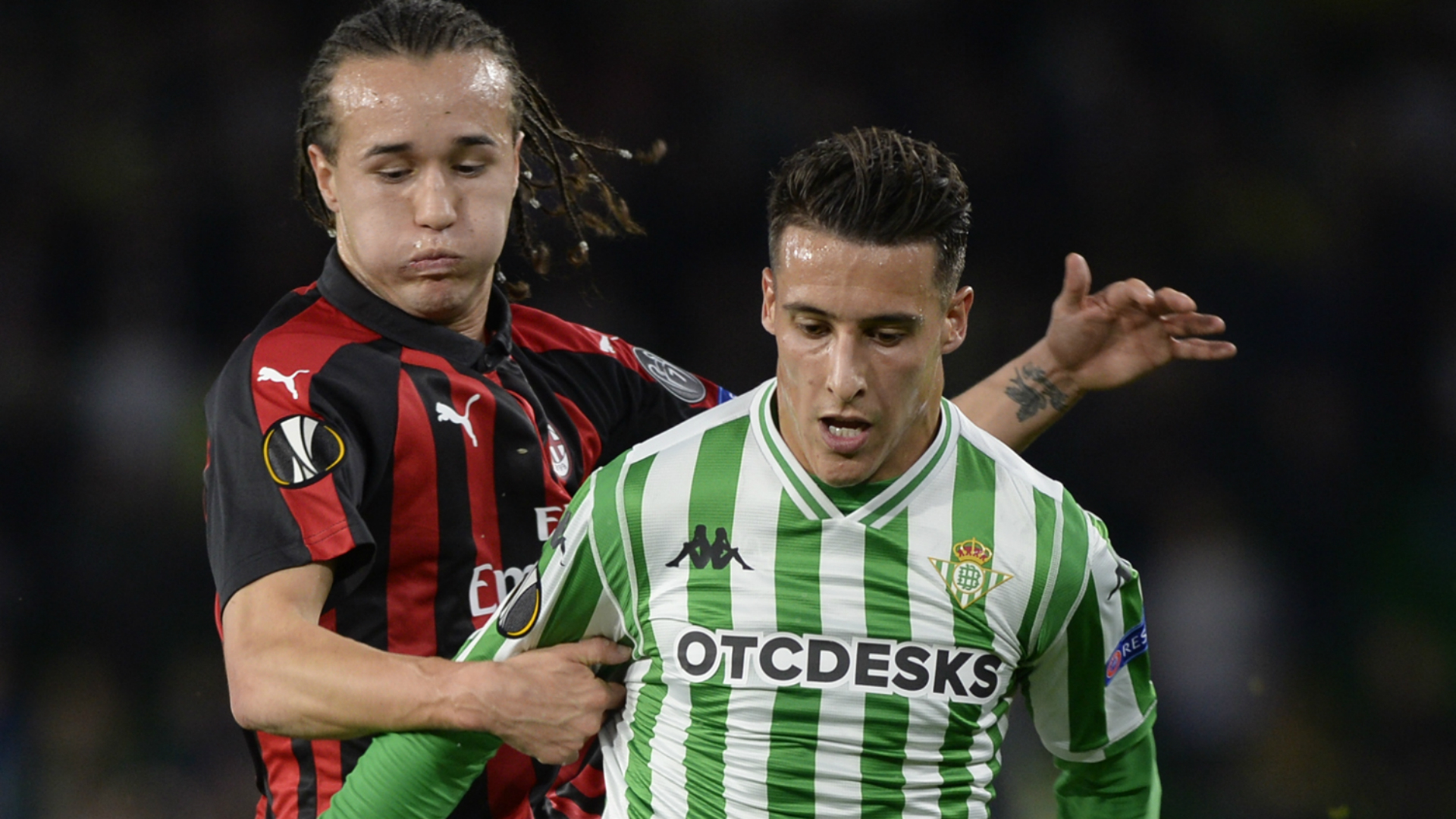 Cristian Tello Diego Laxalt Betis Milan Europa League