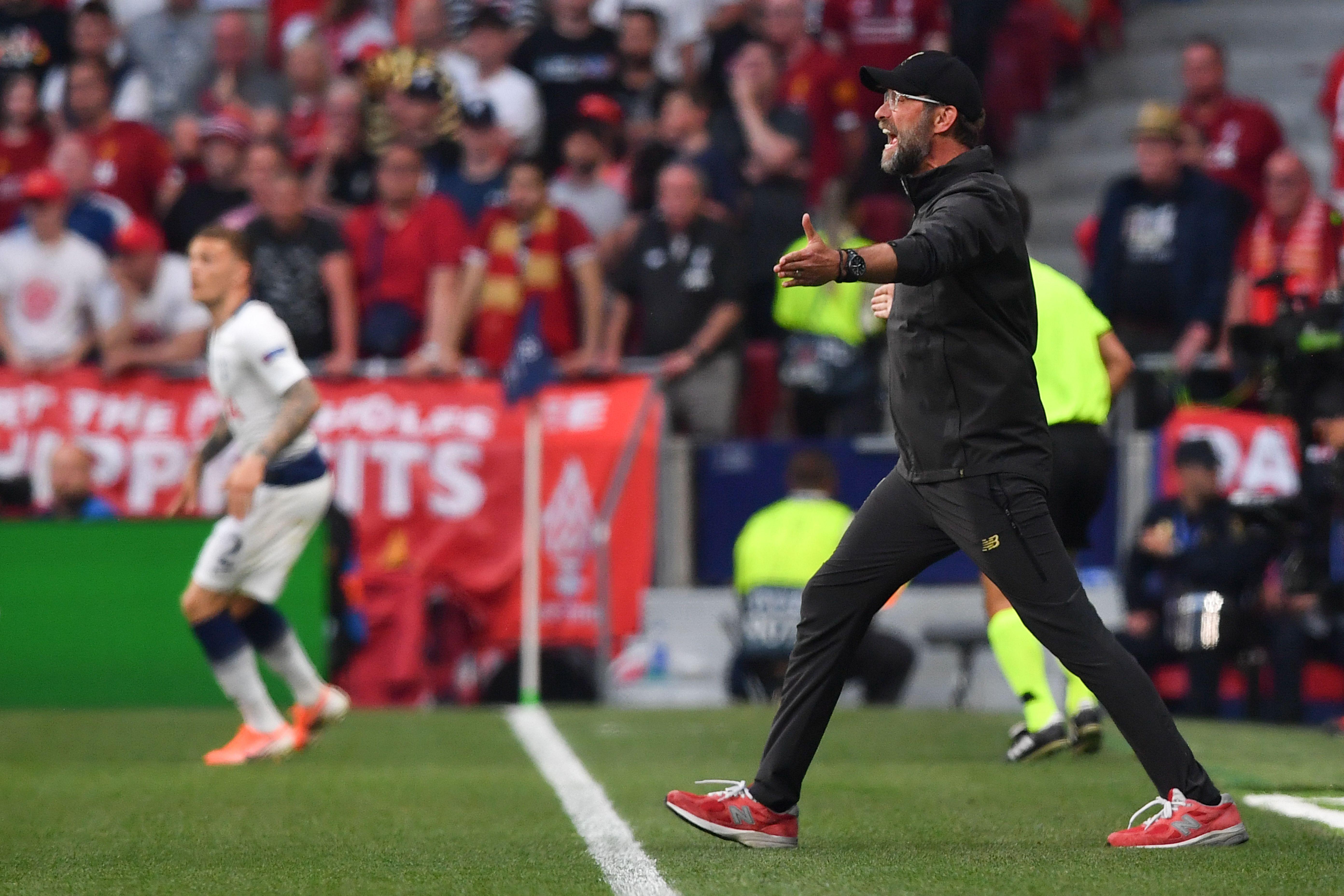 Jurgen Klopp Tottenham 0-2 Liverpool Champions League Final 2018/2019