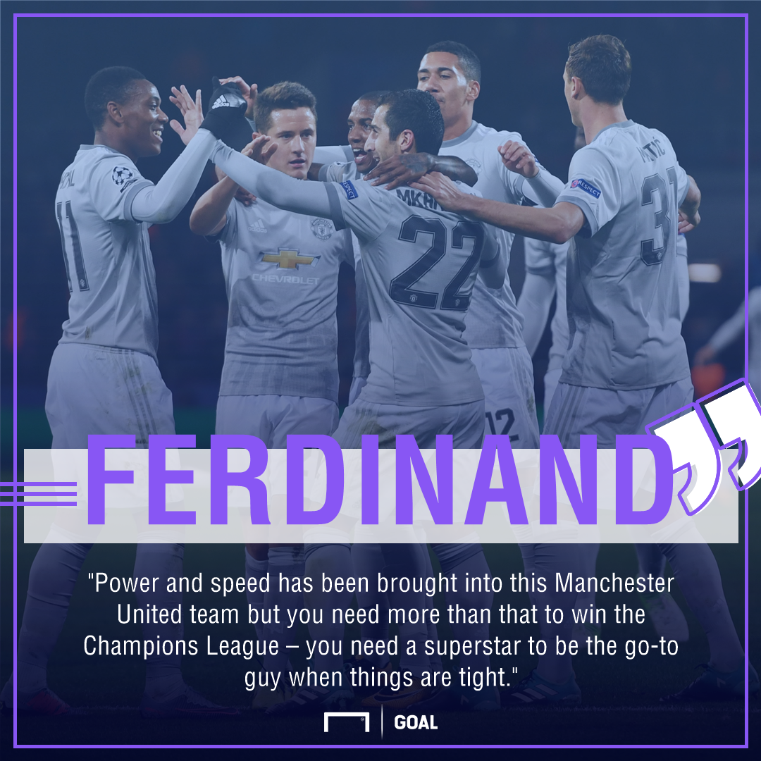 Rio Ferdinand Manchester United Champions League superstar