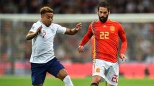 Isco Alarcon Jesse Lingard Inglaterra España England Spain Nations League 08092018