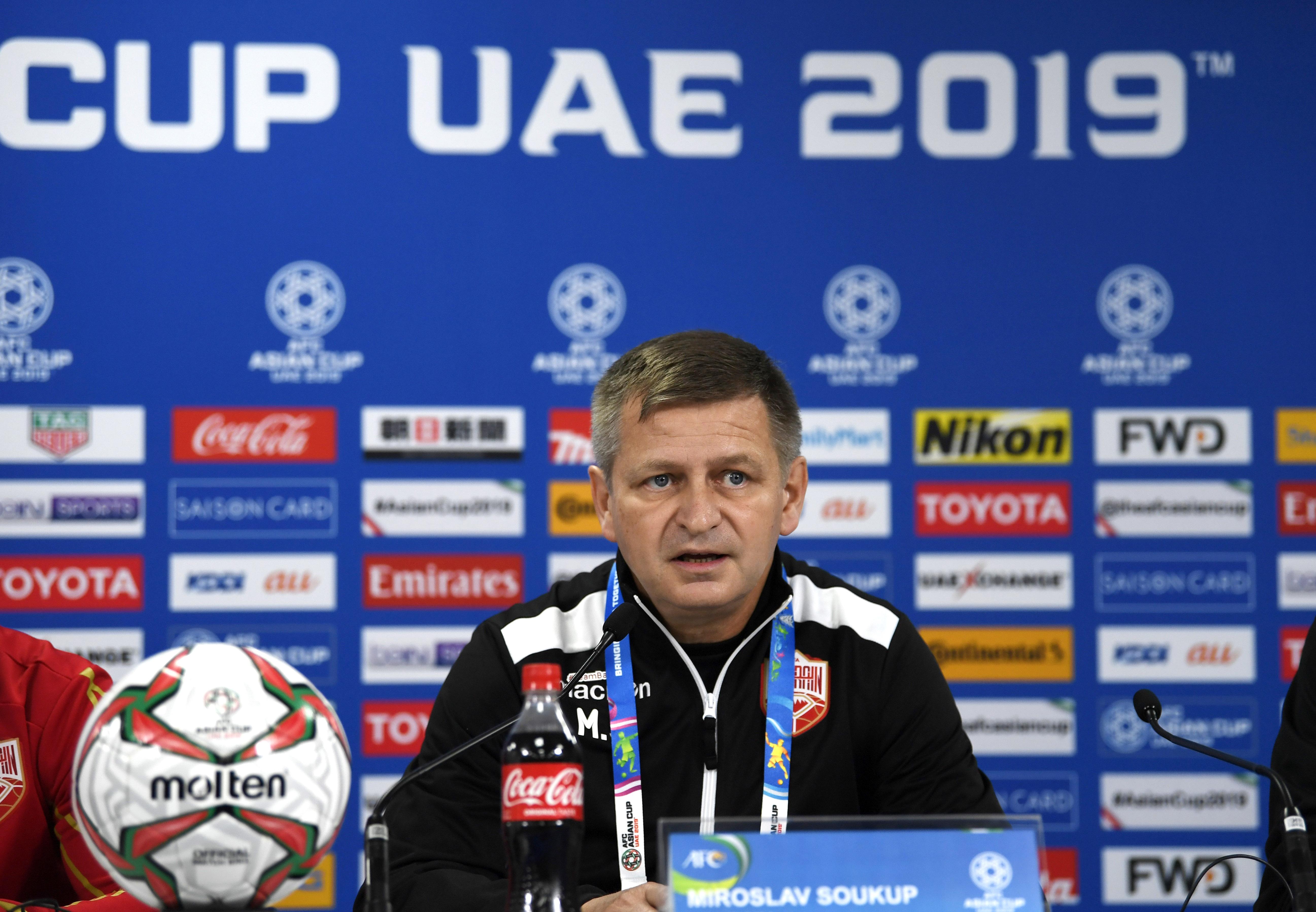 Miroslav Soukup Bahrain Asian Cup 2019