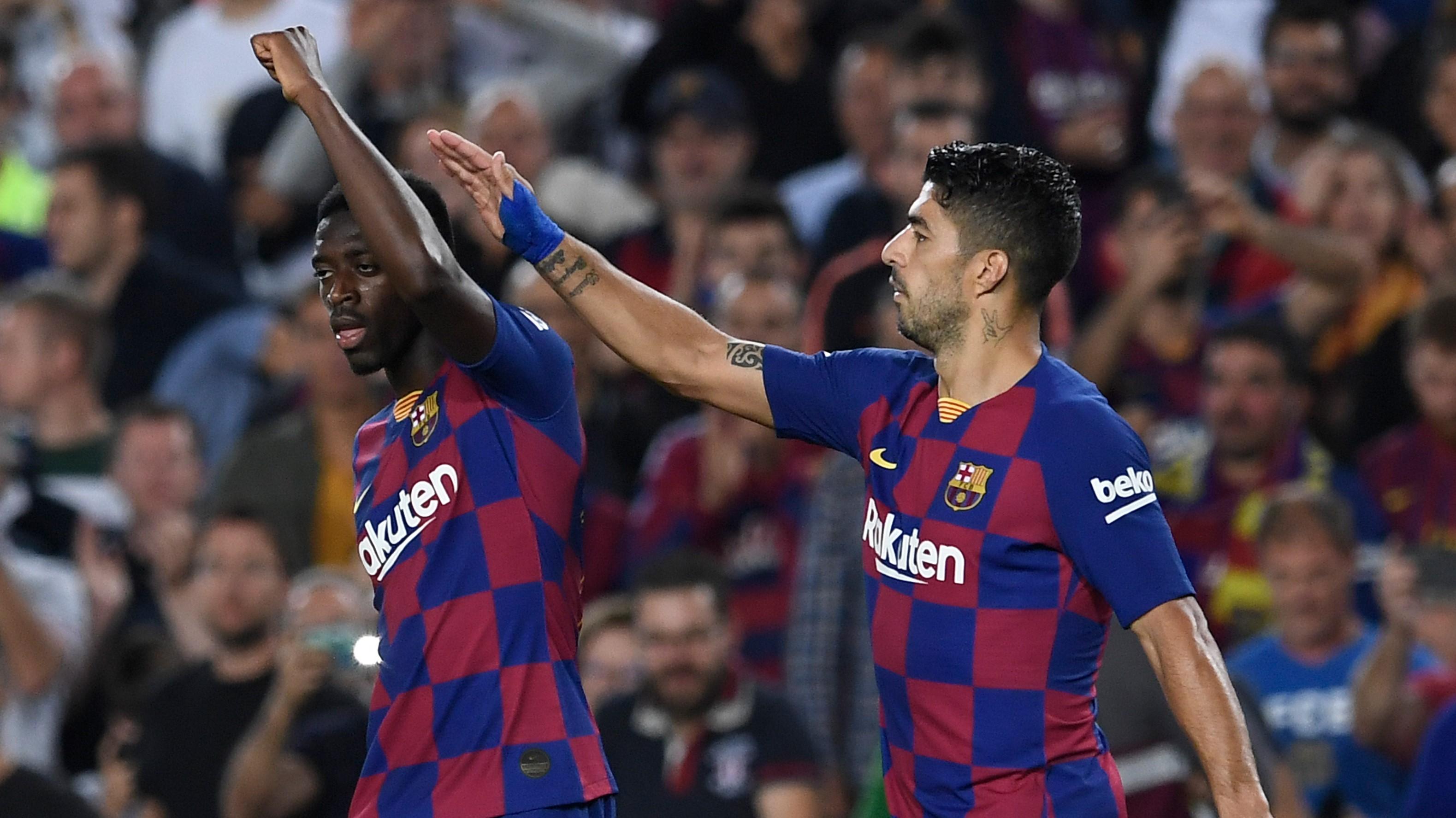 Ousmane Dembele Luis Suarez Barcelona Sevilla LaLiga 06102019