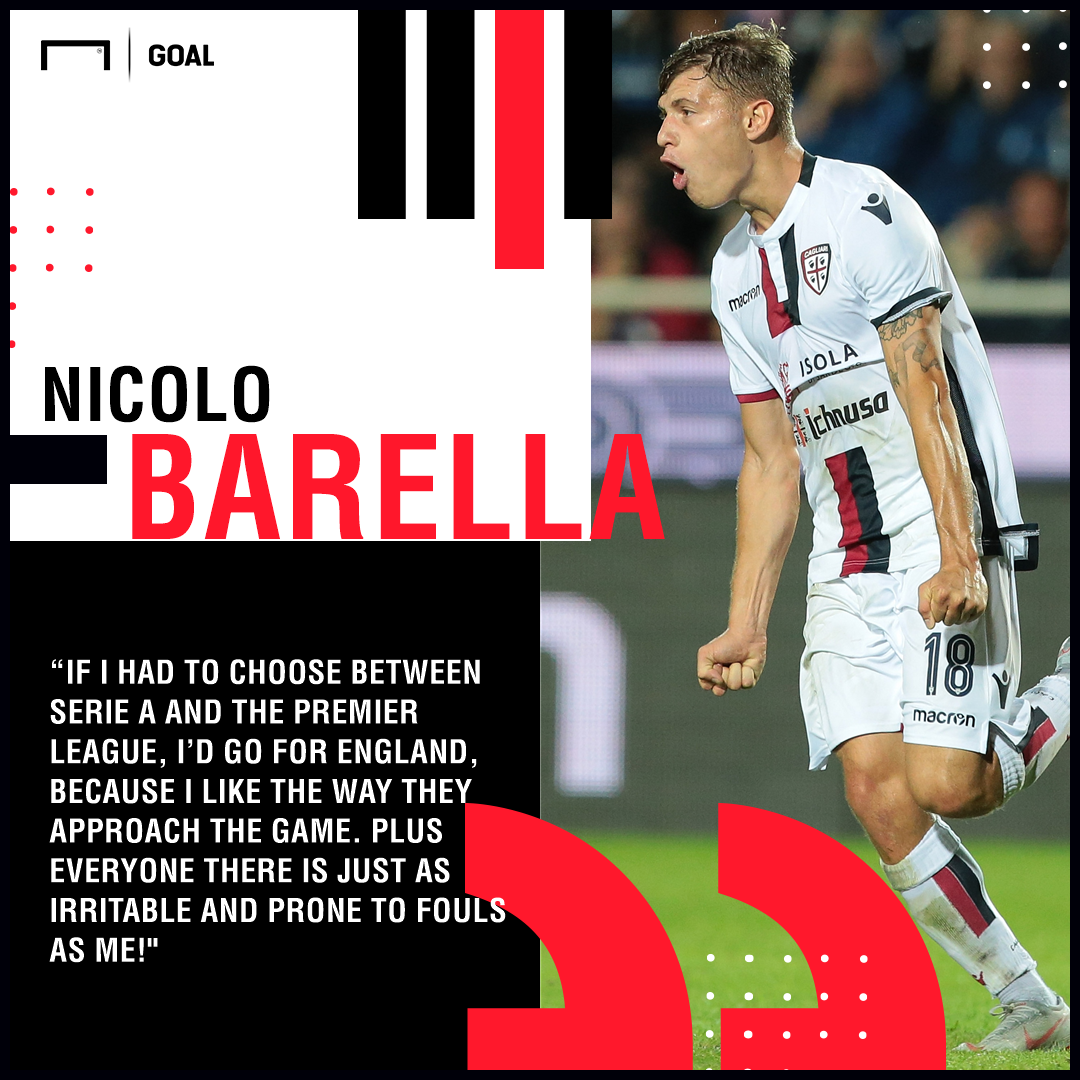 Liverpool target Barella proud of links with top clubs