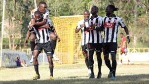 Jeremiah Wanjala leads his teammates of Ushuru FC.