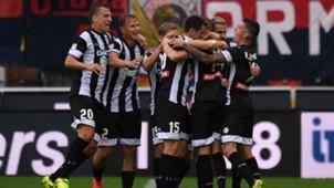 Udinese celebrates Jankto goal against Genoa 10092017