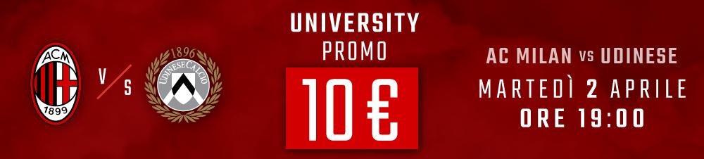 Banner Milan-Udinese promo