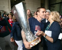 Griezmann celebración Europa League