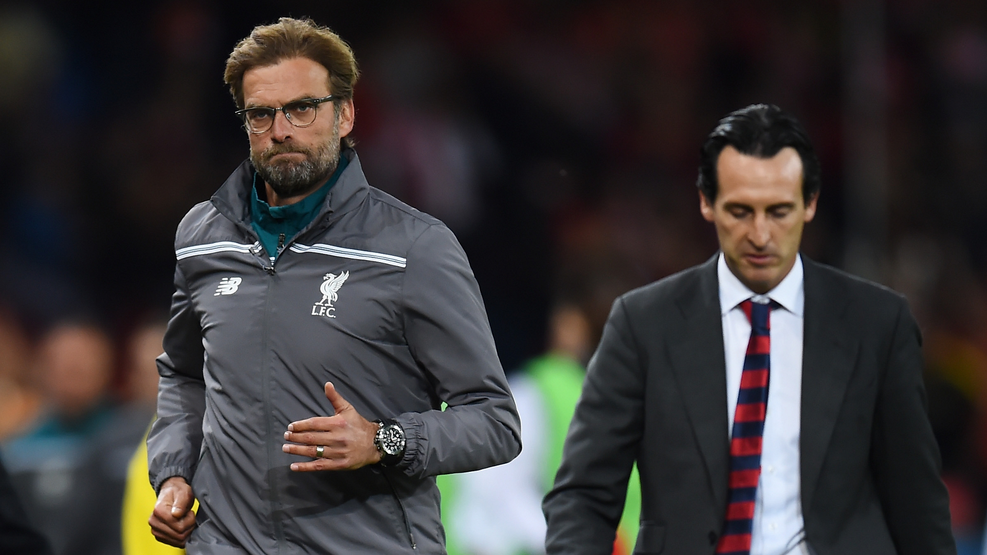 Image result for unai emery and klopp
