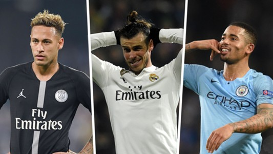 Neymar Gareth Bale Gabriel Jesus composite
