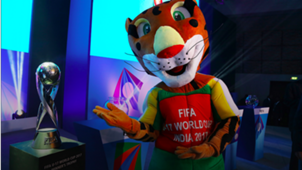 FIFA U-17 World Cup official trophy with mascot Kheleo