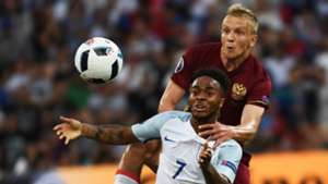 Raheem Sterling, Igor Smolnikov, England vs Russia, Euro 2016