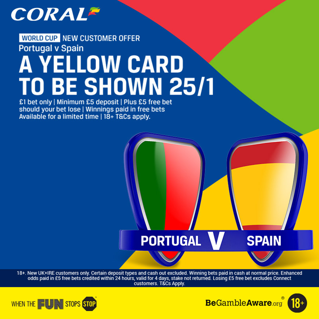 Coral New customer offer SPain v Portugal