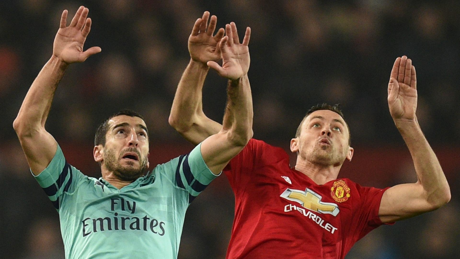 Henrikh Mkhitaryan Nemanja Matic Arsenal Man Utd 2018