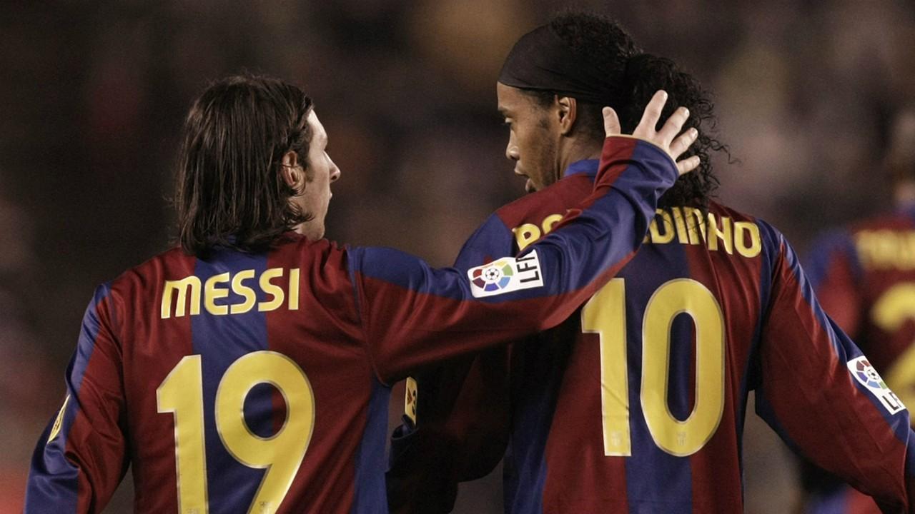 Messi obok swojego idola i przyjaciela