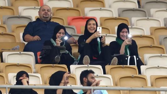 Saudi-Arabien Frauen im Stadion 12012018