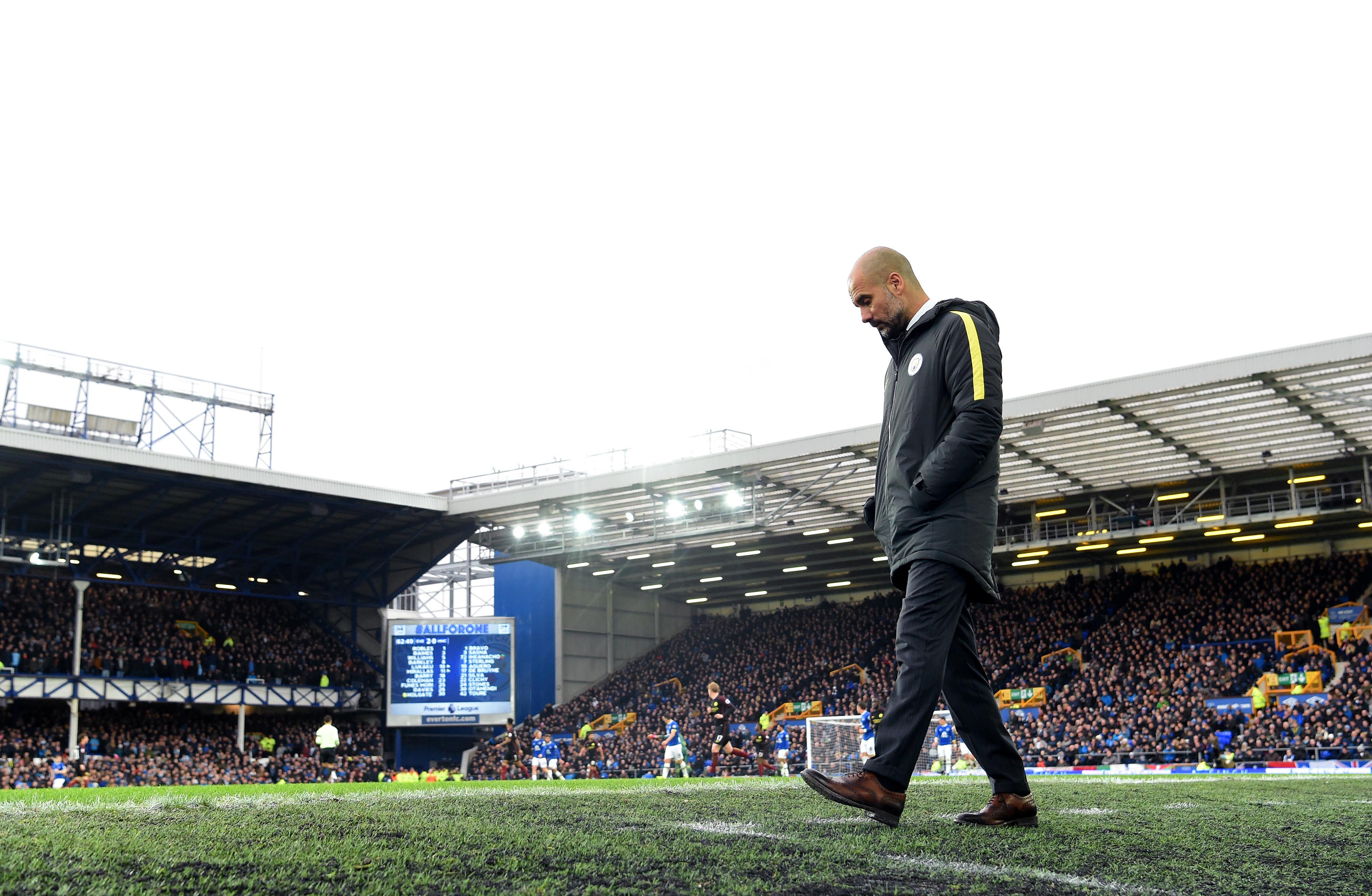 Pep Guardiola Manchester City Everton