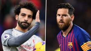 Mohamed Salah Lionel Messi Liverpool Barcelona 2018