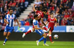 Mohamed Salah - Wigan Athletic v Liverpool