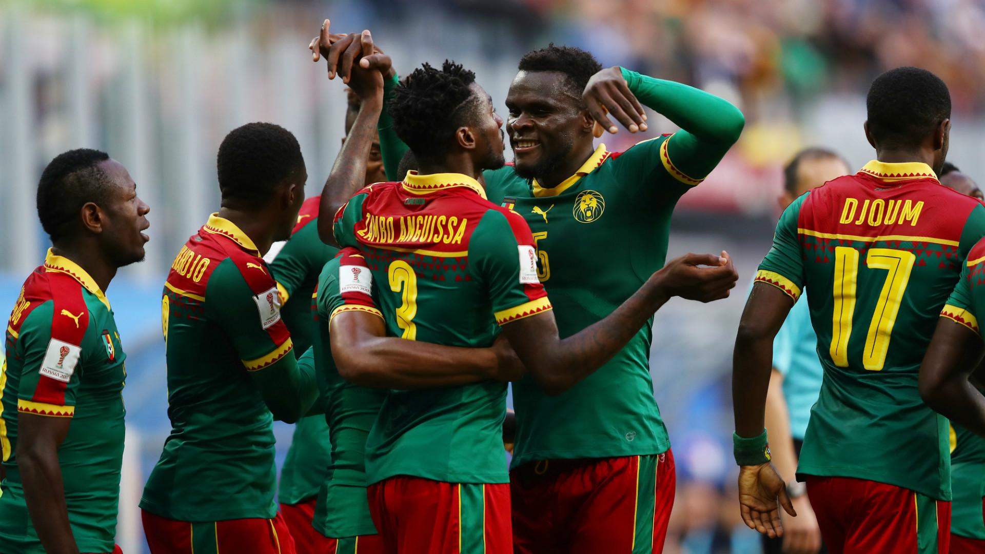 Cameroon celebrates Australia Confederations Cup