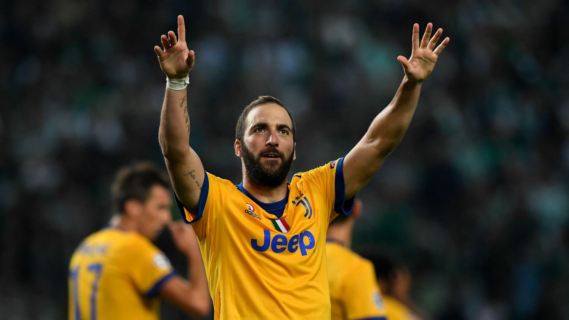 Gonzalo Higuain Juventus Champions League