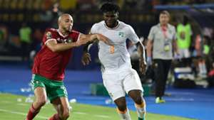 Ivory Coast Franck Kessie and Morocco's Nordin Amrabat - June 2019