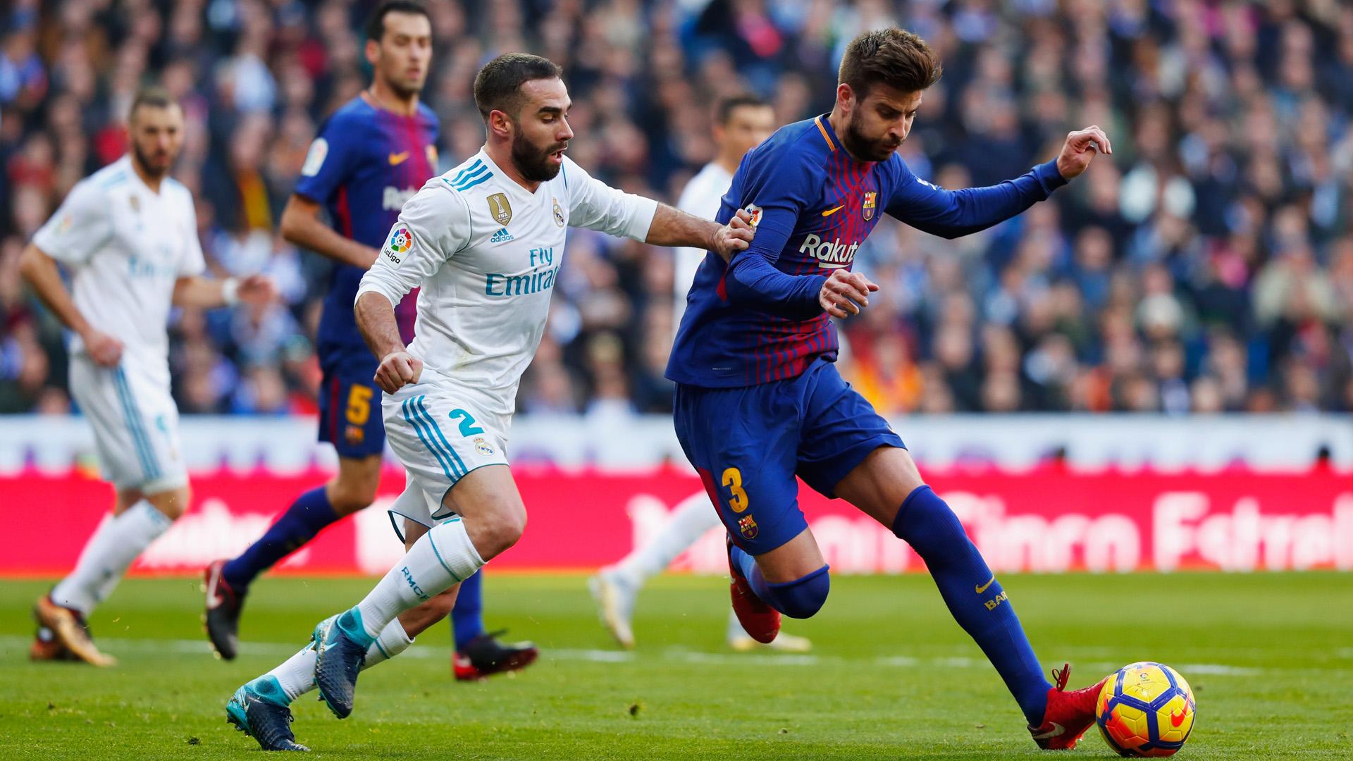 Gerard Pique Dani Carvajal Real Barcelona 23122017