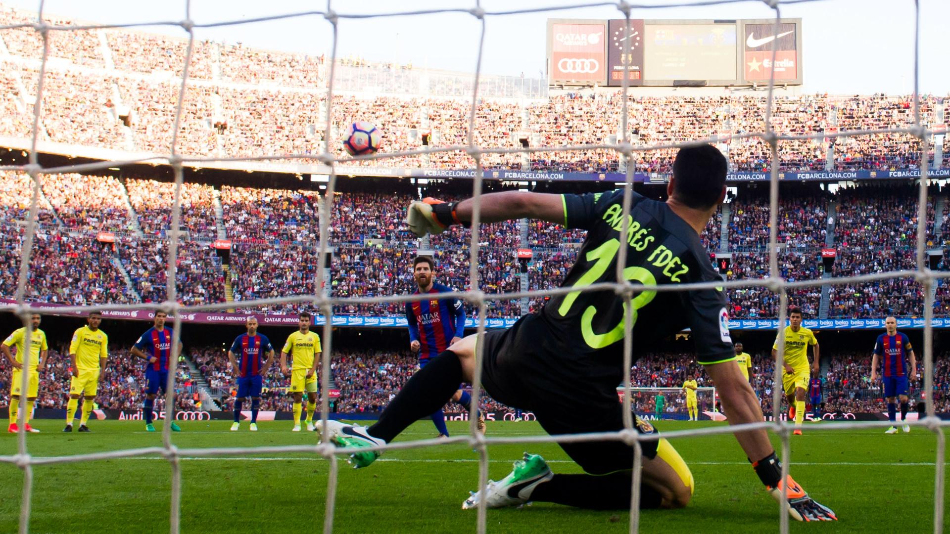 Lionel Messi Panenka Barcelona Villarreal LaLiga 06052017