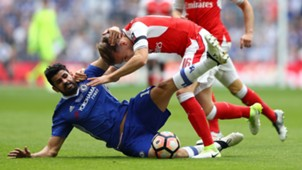 Diego Costa Chelsea Rob Holding Arsenal FA Cup