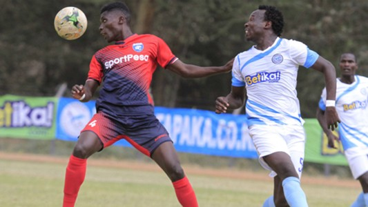 Robinson Kamura of AFC Leopards v Kepha Aswani of Sofapaka.