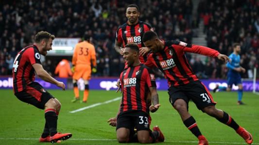 Jordan Ibe Bournemouth celebrate vs Arsenal